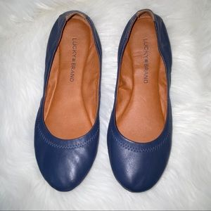 Lucky Brand Blue Leather Size 7M LK-Emmie2 Flats